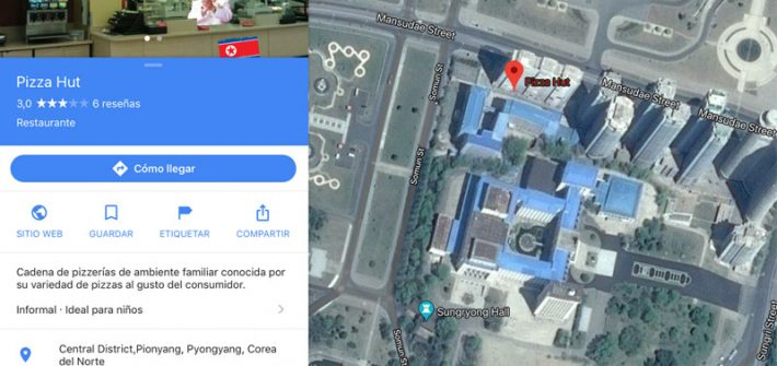 Pizza Hut Corea del Norte Google Maps