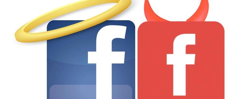 facebook angel y demonio