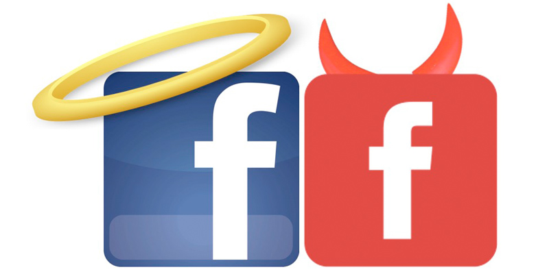 facebook angel y demonio