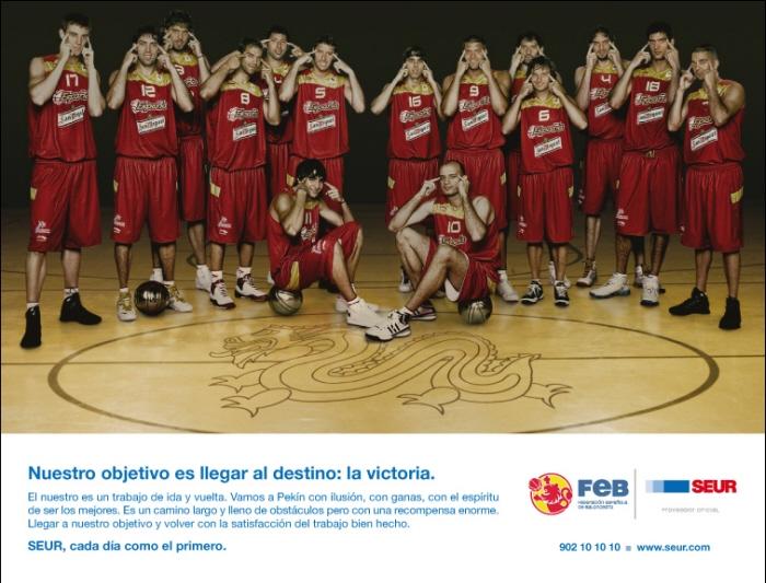 Campaña para las Olimpiadas de Pekín SEUR Selección Española de Baloncesto
