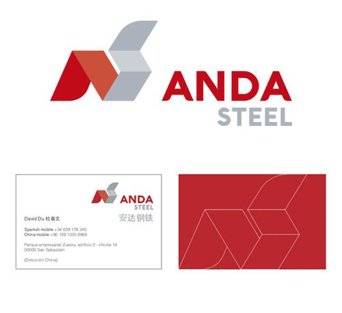 Desarrollo de Imagen Corporativa Anda Steel