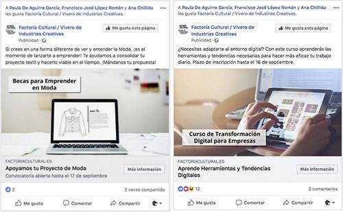 anuncios facebook factoría cultural madrid