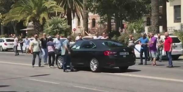 ataques taxis VTC huelga