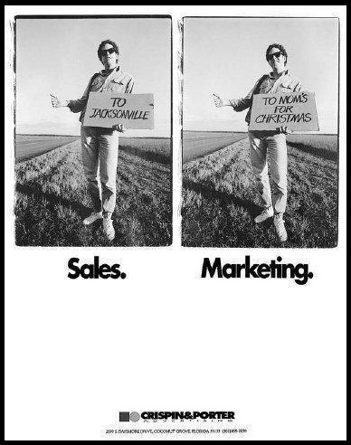 diferencia entre Ventas y Marketing