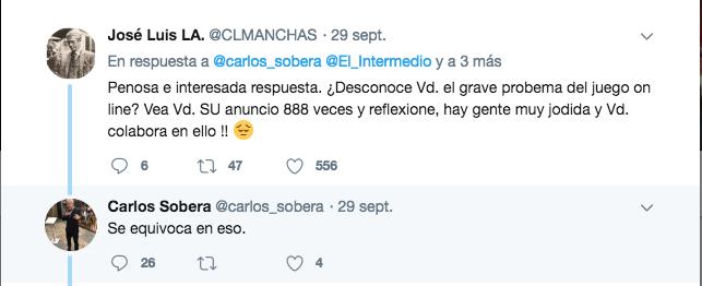 tweet Carlos Sobera Publicidad lupodatía