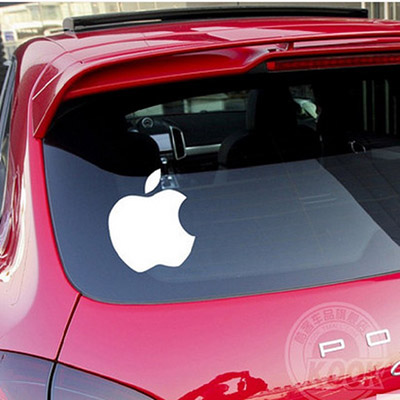 pegatina coche apple