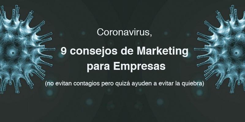 Consejos Marketing para el Coronavirus